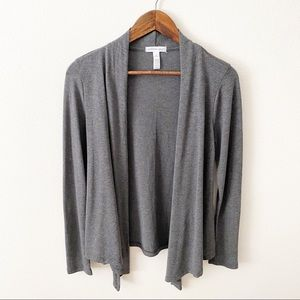 Ambiance Apparel | Gray Cardigan Open Front | M
